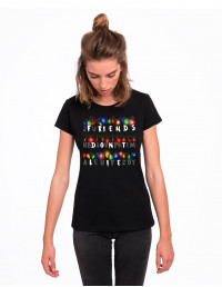 MCN-CW-Camiseta Stranger Things luces friends don't lie