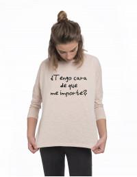 MLM-CW-Camiseta tengo cara de que me importe