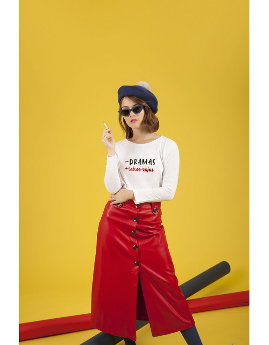 MLB-CW-Camiseta Menos dramas