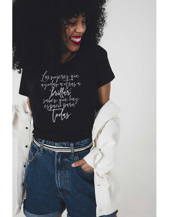 MCN-CW-Camiseta Mujeres que ayudan a brillar