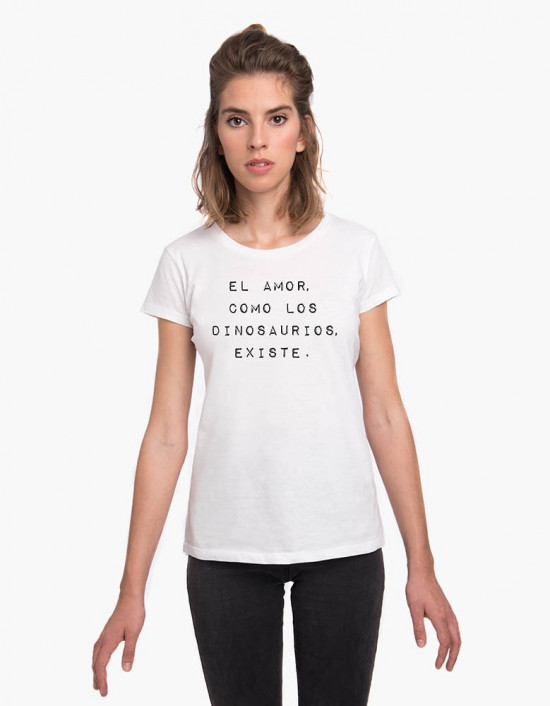 MCB-CW-Camiseta El amor como los dinosaurios existe