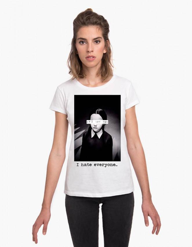 MCB-CW-Camiseta Miércoles I hate