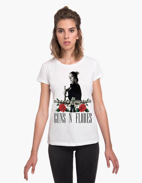 MCB-CW-Camiseta guns n flores