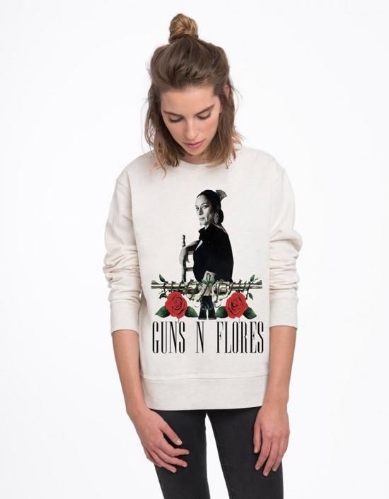 SUB-SW-Sudadera Guns n flores