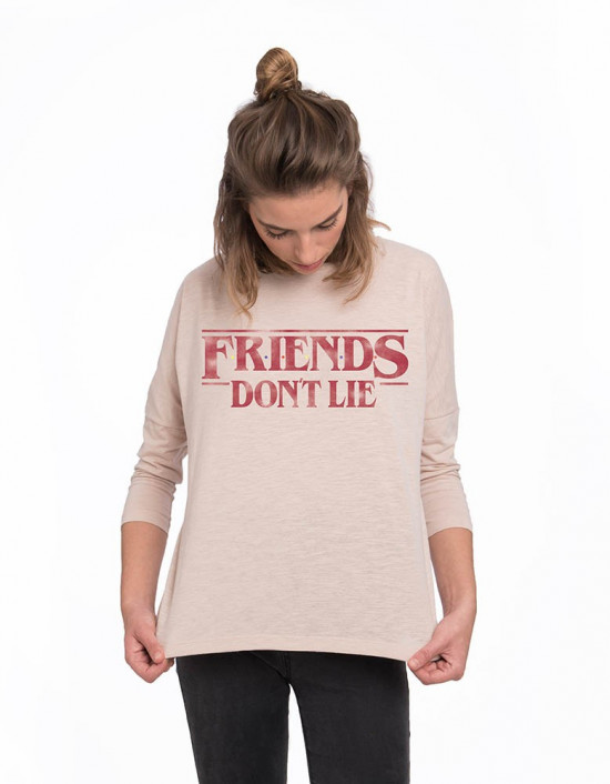 MLM-CW-Camiseta Stranger Things friends don't lie
